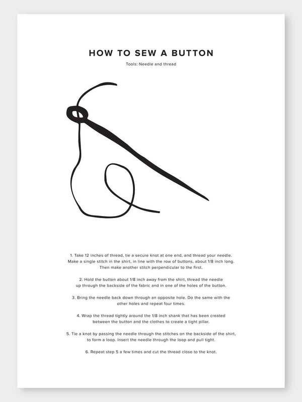 How To Sew A Button Poster