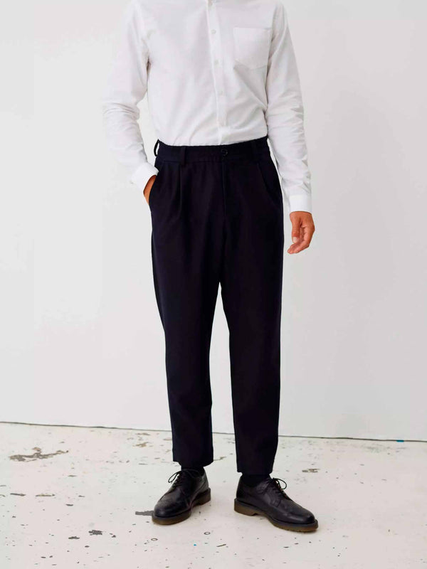 Smoke Trousers | Dark Navy Twill