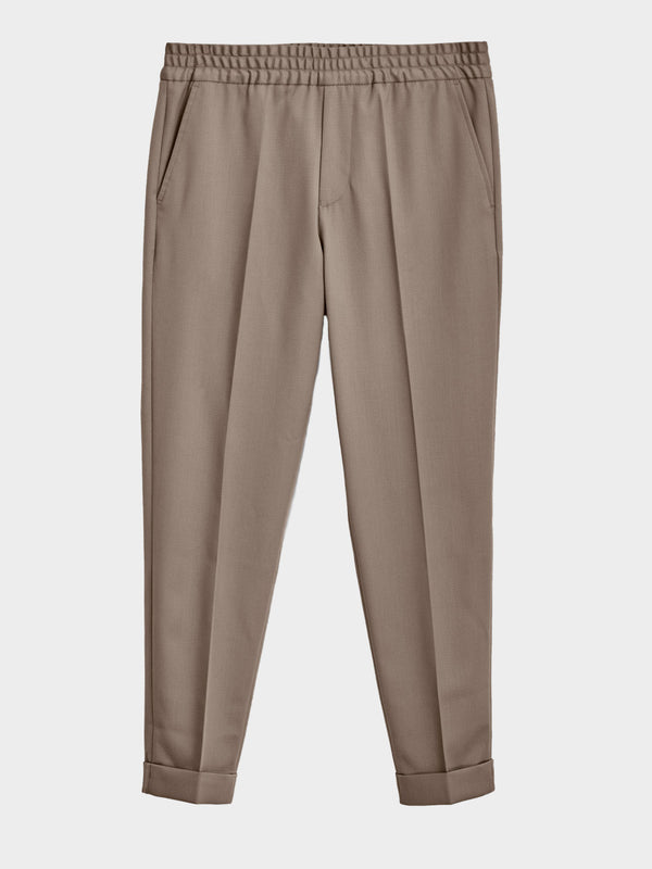 Terry Cropped Trouser | Grey Taupe