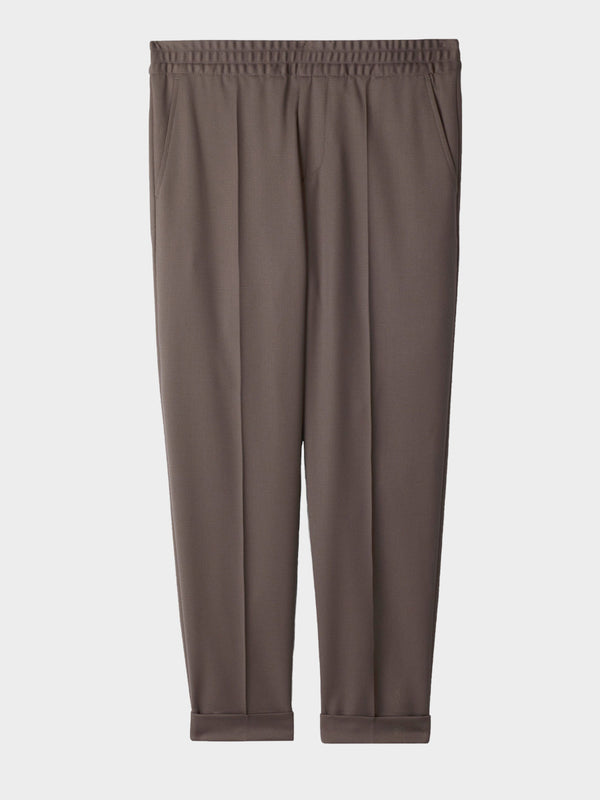Terry Cropped Trouser | Taupe