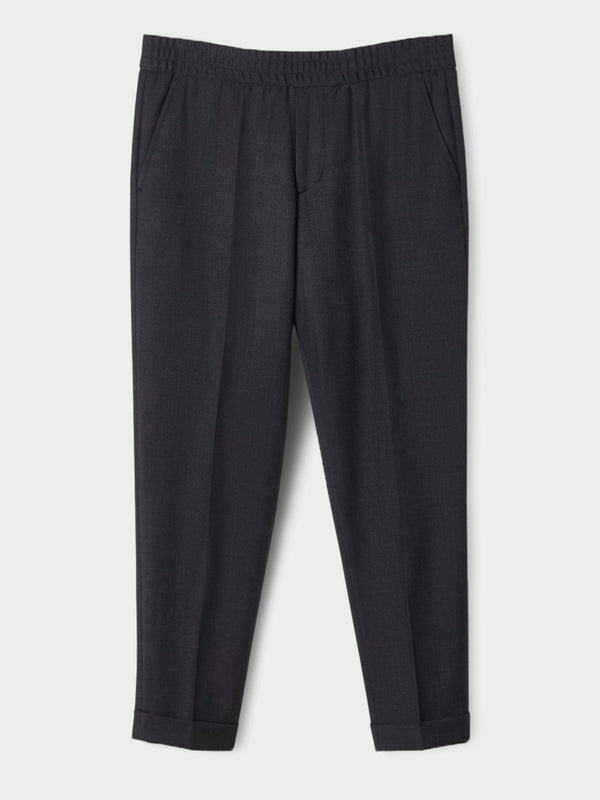 Terry Cropped Trouser | Anthracite