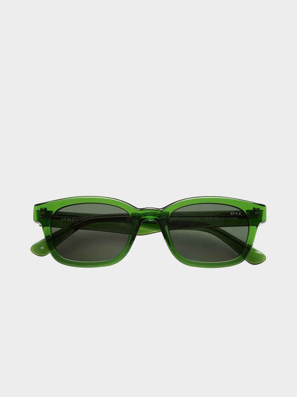 Unbound Sunglasses | Transparent green Green lenses