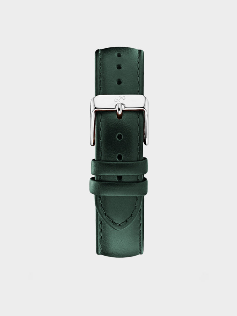 Pin Buckle Strap | Dark Green Leather