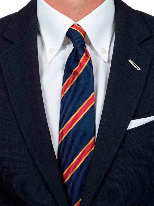 The Navy Red Golden Spade Tie