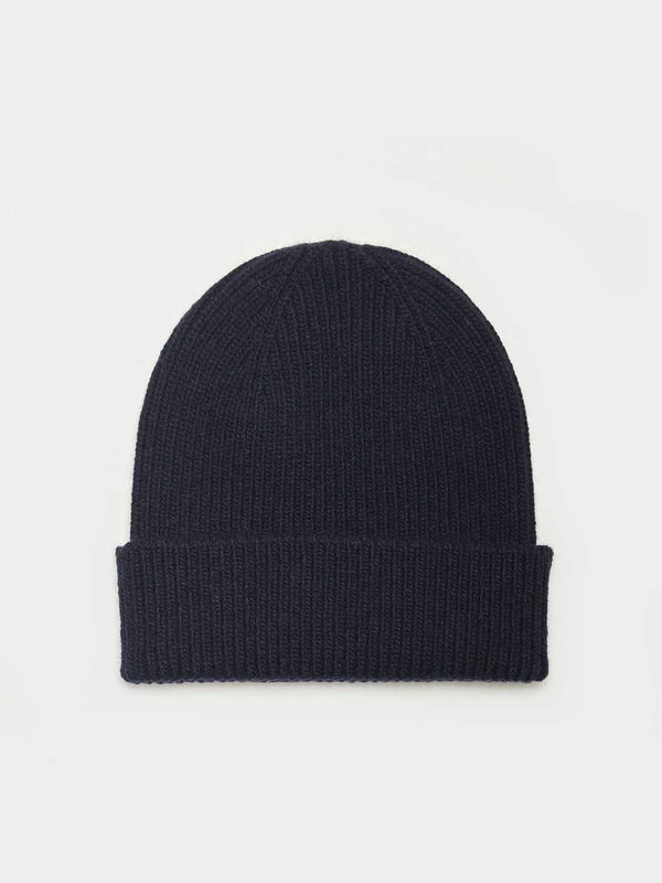 Merino Wool Beanie | Navy Blue