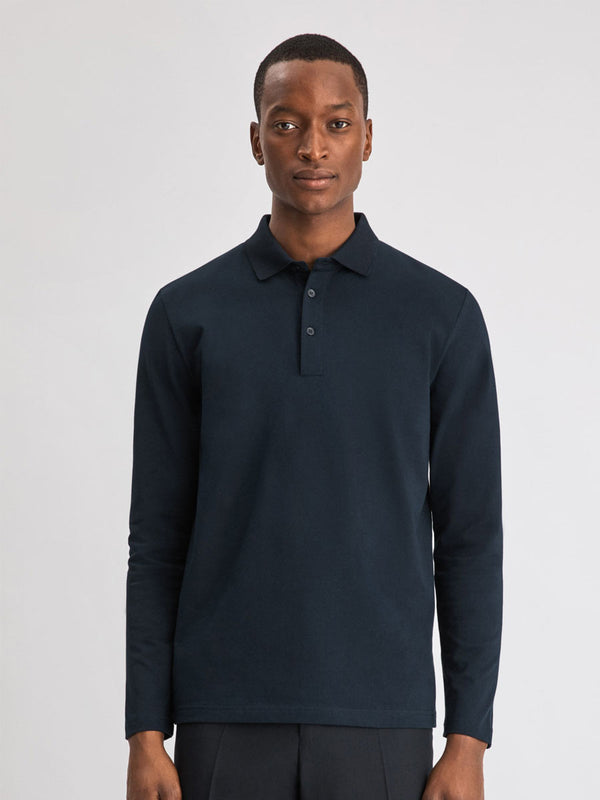 Luke Lycra Polo Shirt | Navy