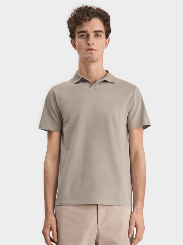 Lycra Polo Tee | Light Sage