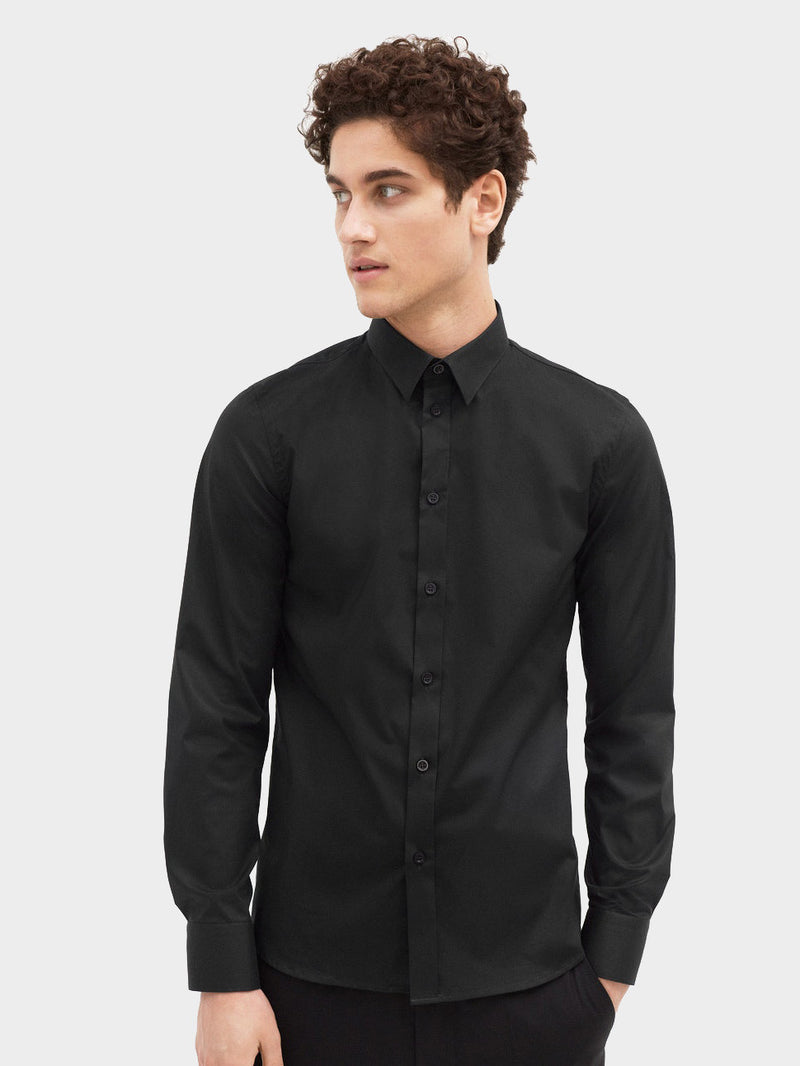 Paul Stretch Shirt | Black