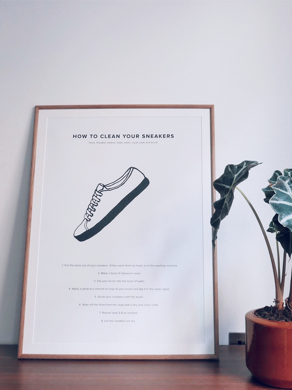 How To Clean Your Sneakers Poster