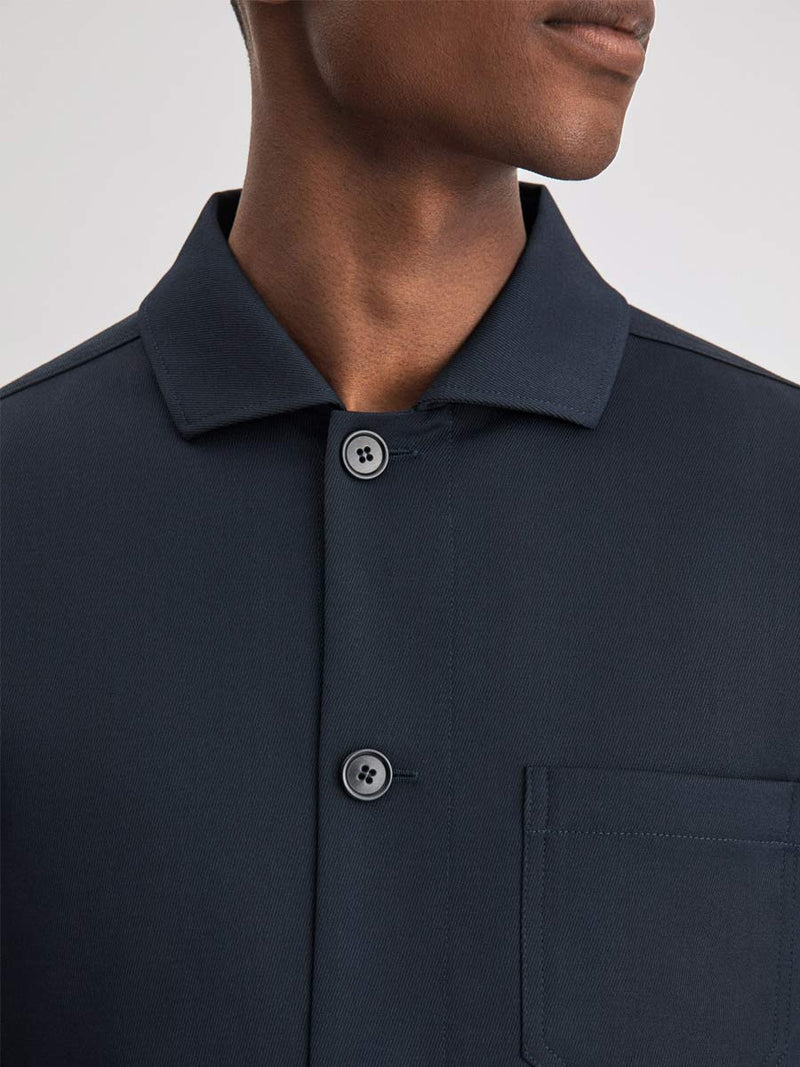 Louis Gabardine Jacket | Navy
