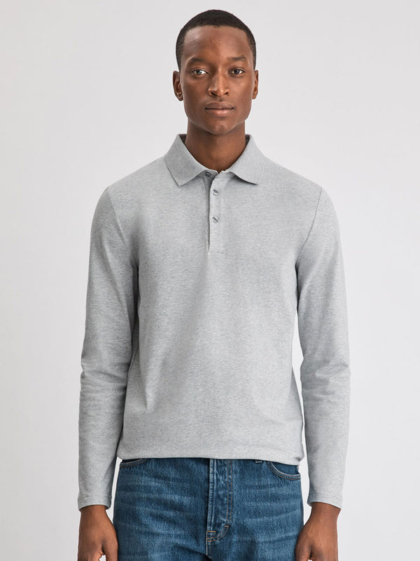 Luke Lycra Polo Shirt | Grey