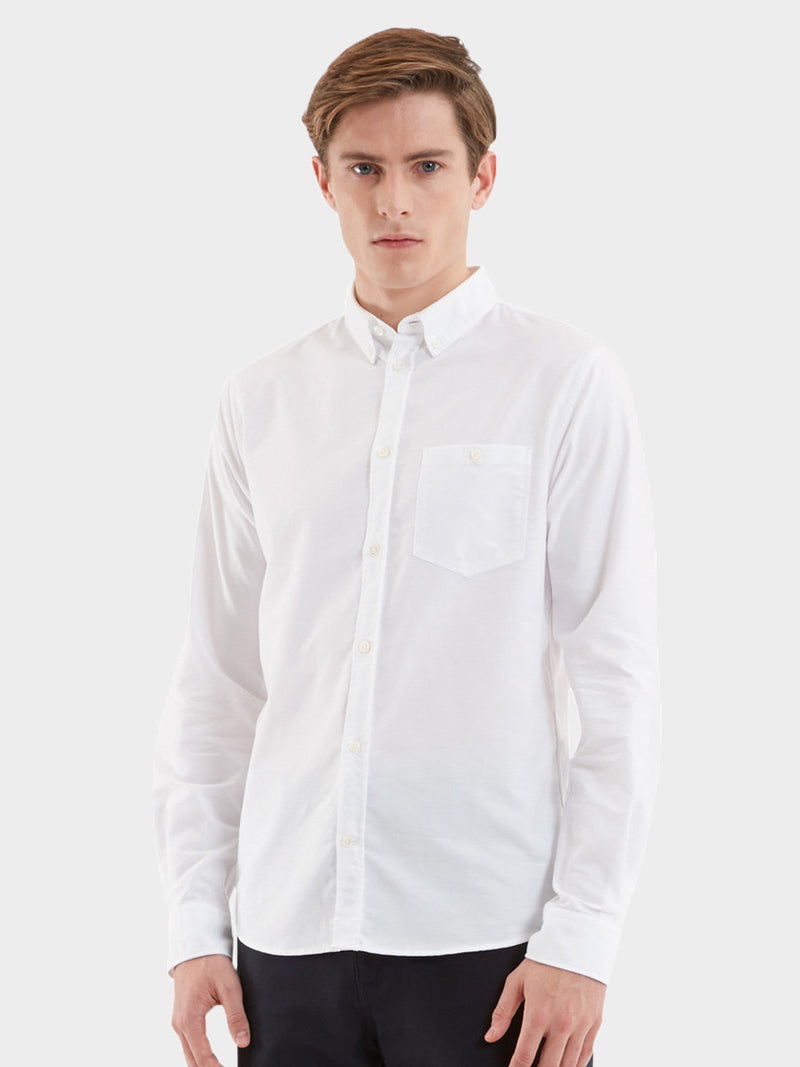 Anton Oxford Shirt | White
