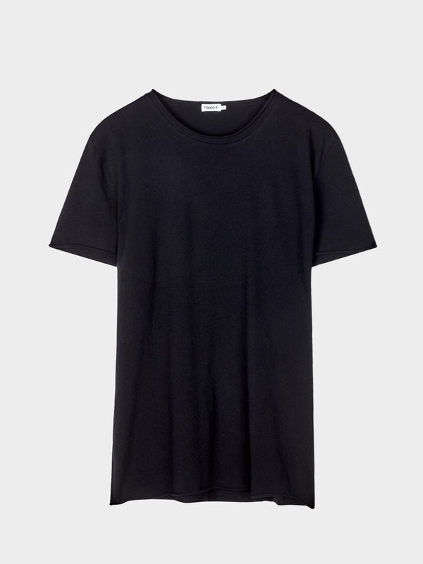 Roll Neck Tee | Black