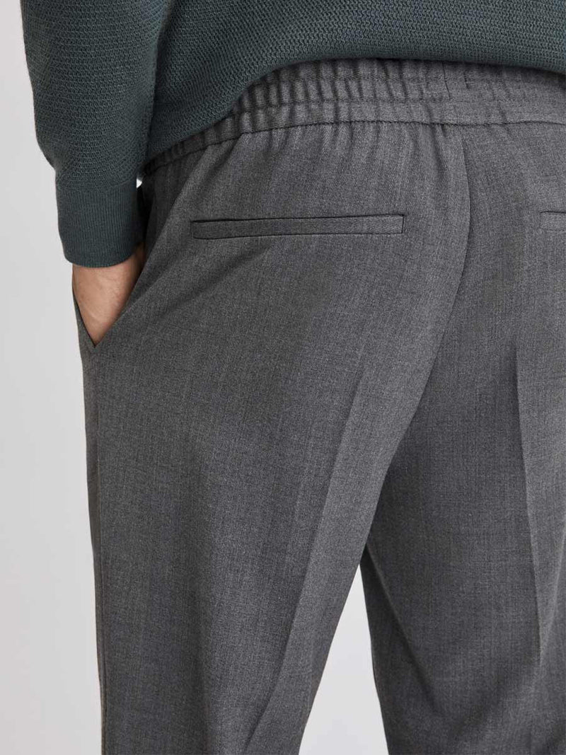 Terry Cropped Trouser | Grey Melange