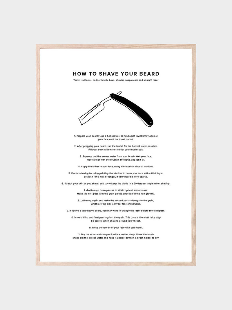How To Shave Your Beard Poster