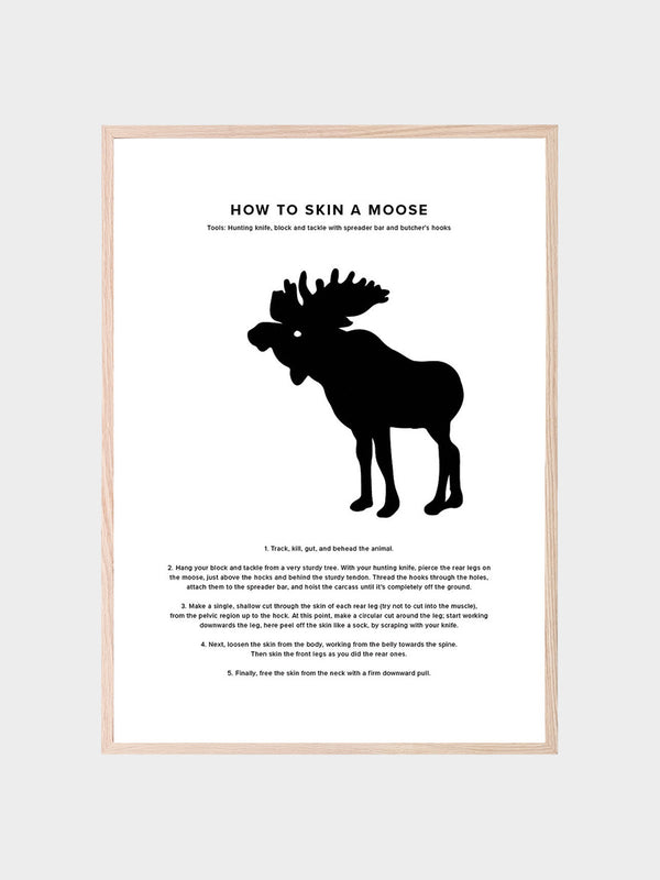 How To Skin A Moose Poster