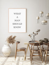 What A Man Should Know Poster