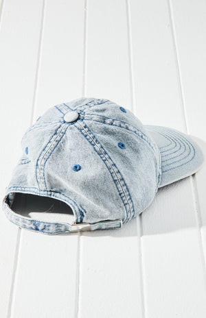 Vintage Denim Washed Logo Baseball Cap