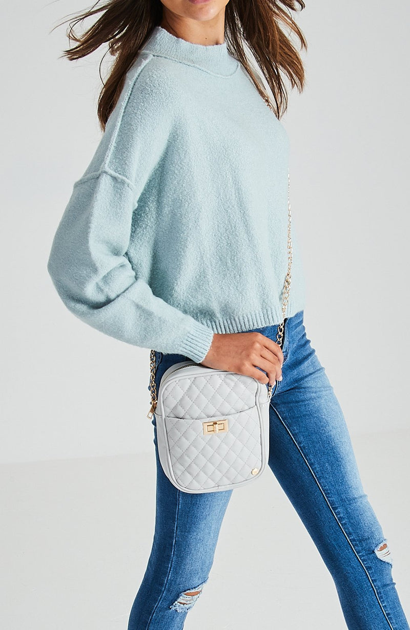 Quilted Vegan Leather Crossbody Bag