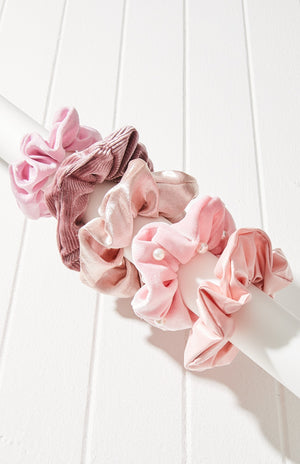Assorted Ombre Scrunchie Hair Tie 5 Pack