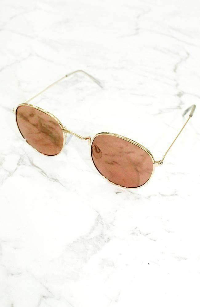 nyc metallic mirror lens vintage sunglasses