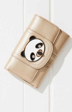 Panda Pastel Vegan Leather Lock Wallet