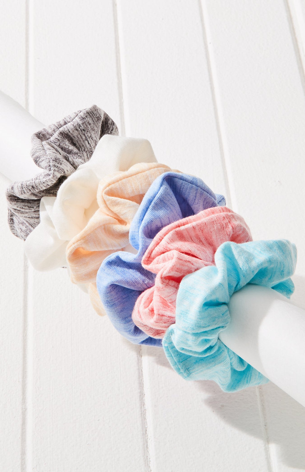 super soft rainbow scrunchies hair tie set