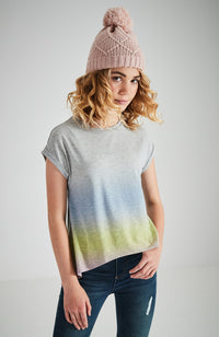 cassidy grey marle rainbow high low girls tee