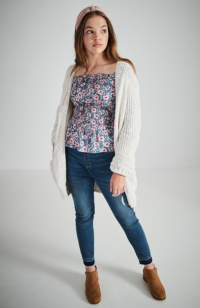 fiorina cream oversized girls cardigan top knit