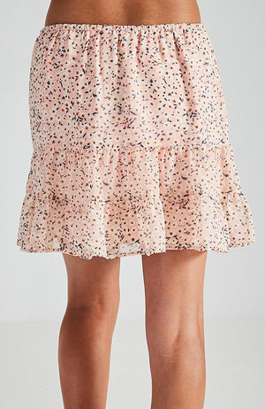 aneta pastel pink ruffled girls skirt