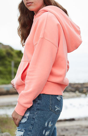 iris bright neon girls active sweat hoodie