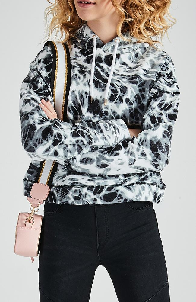 camilla black & white tie dye active sweat top