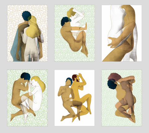 Daphnis And Chloe | Set of 6 Prints