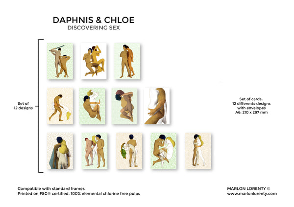 Daphnis and Chloe | Set of 3 Postcards