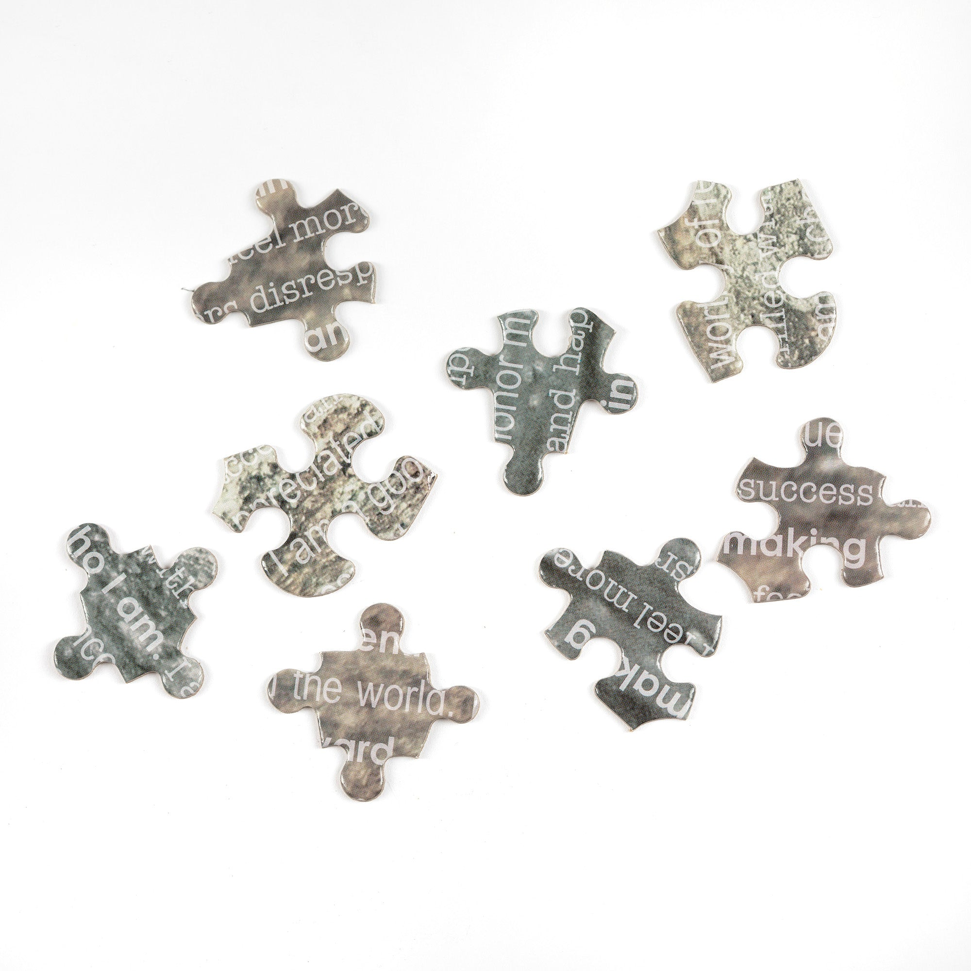 Assorted jigsaw puzzle pieces