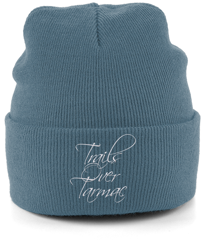 """Trails Over Tarmac"" Embroidered Taylor & Wild Beanie"