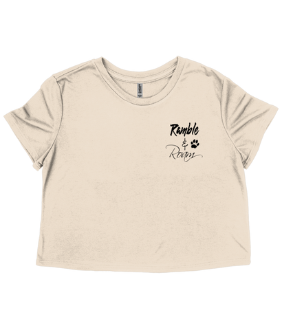"Women's ""Ramble & Roam"" Cropped Tee"