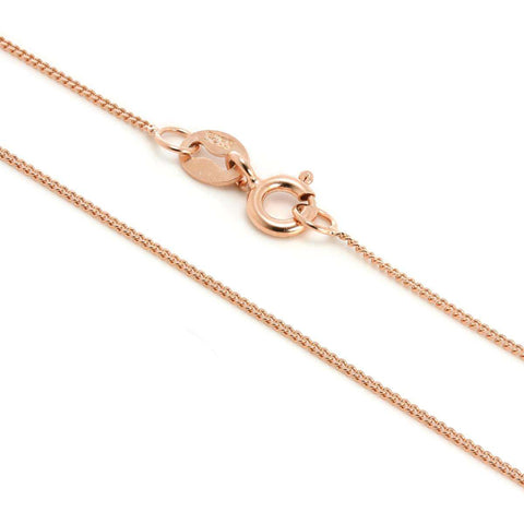 "Rose Gold Plated Sterling Silver 18"" Necklace"