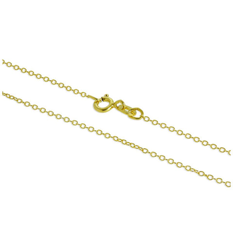 "Gold Plated Sterling Silver 18"" Necklace"