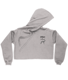 "Women's ""Hikes & Hounds"" Cropped Hoodie"
