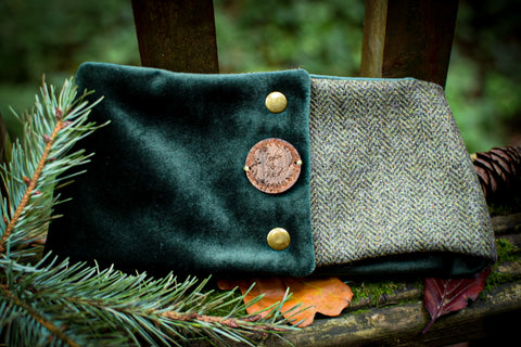 "Create Your Own Christmas Gift Set Collection - ""Wellington Boots"" - Abraham Moon Wool X Plush Velvet Snood"