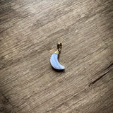 Add A Crystal Moon Charm Pendant
