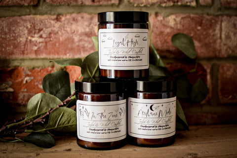 "Set of Three - ""Airplane Mode"", ""In The Zone"" & ""Legal High"" Spring Collection Candles"