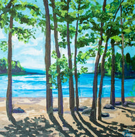 Day off at the Lake - Original Painting