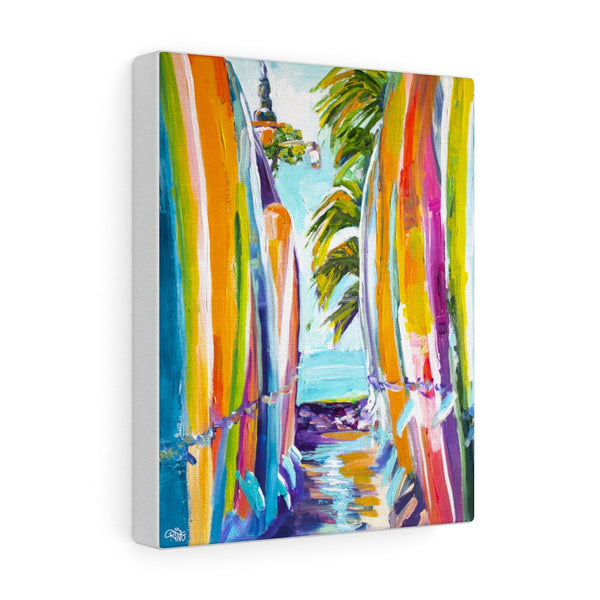 Surfboard Alley - Canvas Print