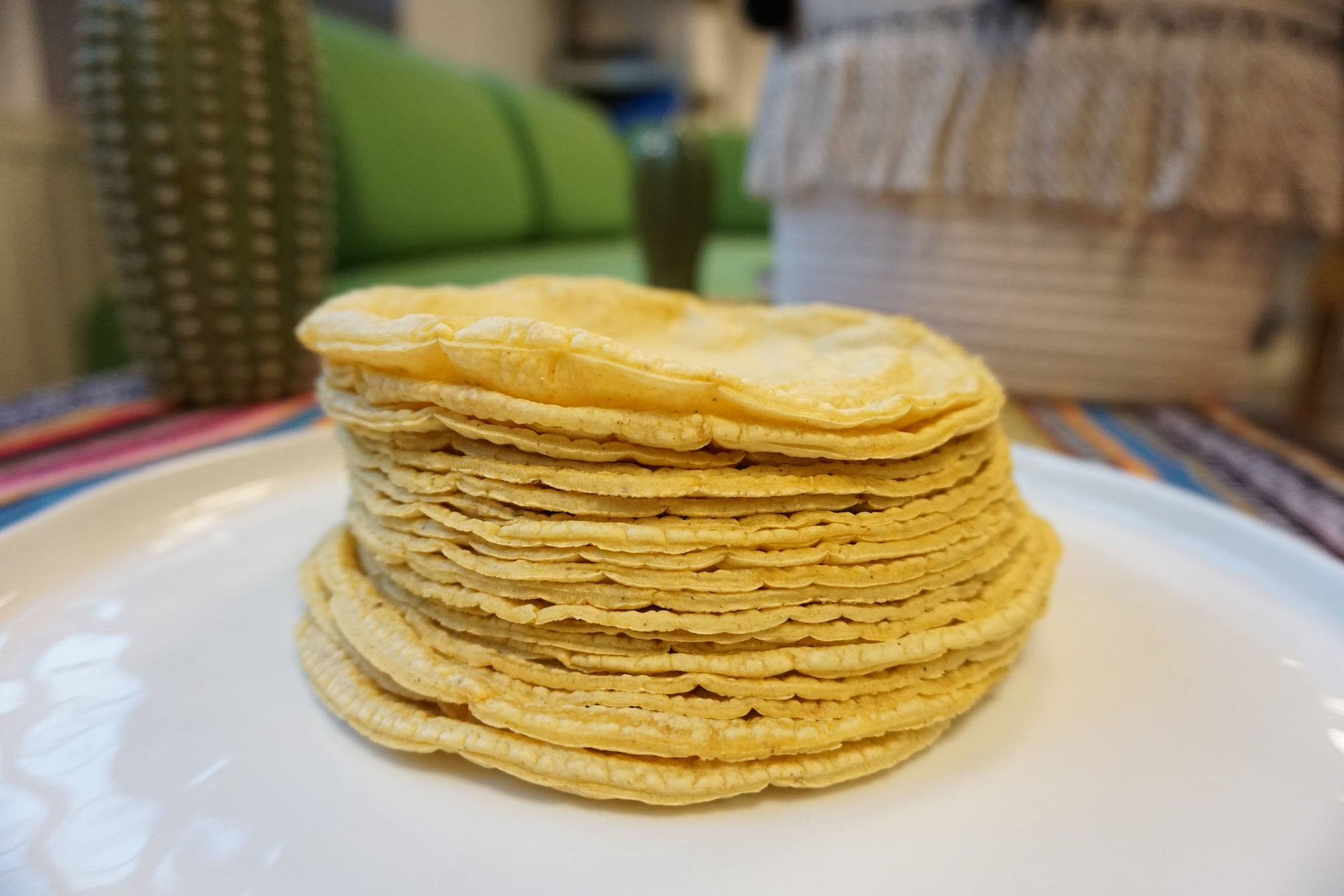 Fresh Organic Yellow Corn Tortillas 12 pieces