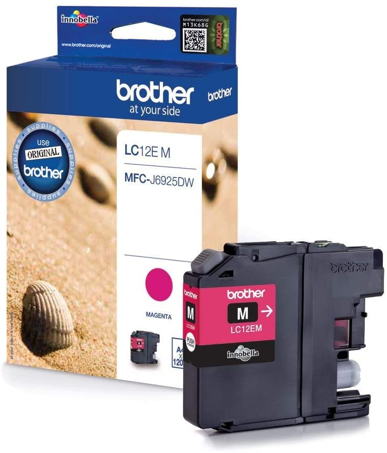 Brother LC12EM Cartuccia d'Inchiostro, 1200 Pagine Stampate, XL, Magenta