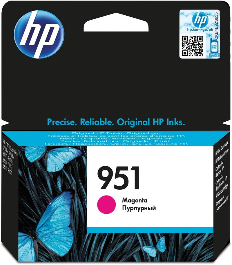 HP 951XL CN048AE Cartuccia Originale per Stampanti a Getto d'Inchiostro, Compatibile con Officejet Pro 8100, 8600, 8600 Plus, 8615, 8620, 8640, Officejet Pro Mono 251dw e Pro 276dw, Giallo