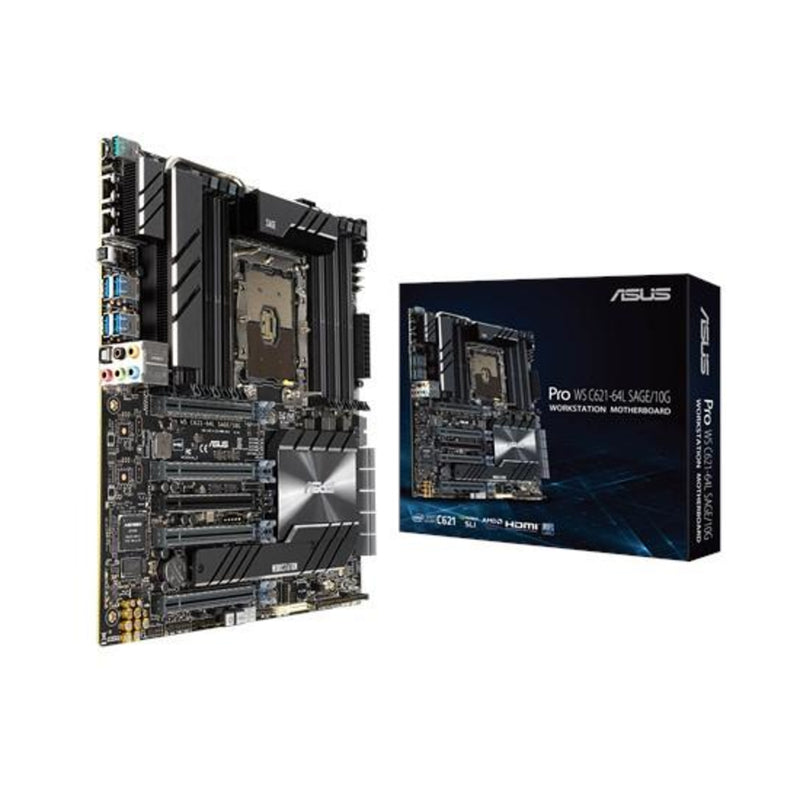 Asus MB Pro WS C621-64L SAGE/10 G server/workstation motherboard LGA 3647 (Socket P) CEB Intel® C621