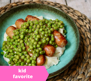 Bangers and Mash — freezer meal
